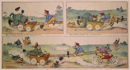 Travelin Hans Makes His Debut As A Motorist, by Karl Pommerhanz (1906)