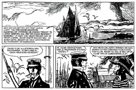 Corto Maltese, by Hugo Pratt