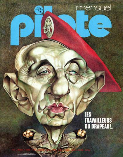 Pilote cover by Jean-Michel Renault