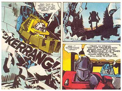 Transformers, art by John Ridgway