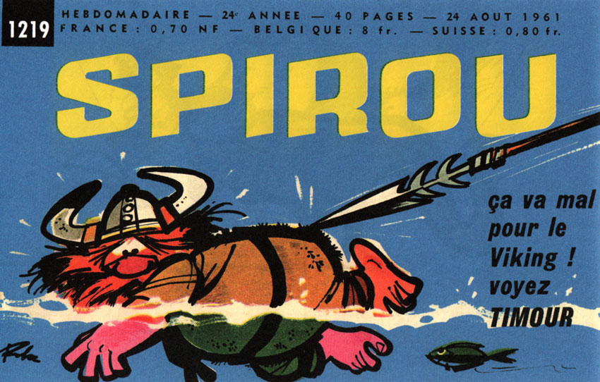 Header announcement for Spirou