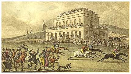 Dr. Syntax at the races in York, by Thomas Rowlandson