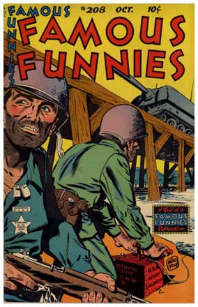 Famous Funnies cover, by Mike Roy