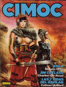 cover for Cimoc, by Luis Royo