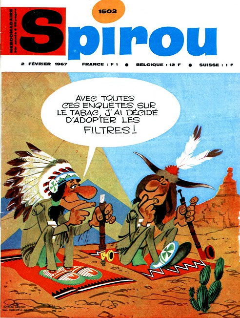 Spirou cover by Louis Salverius