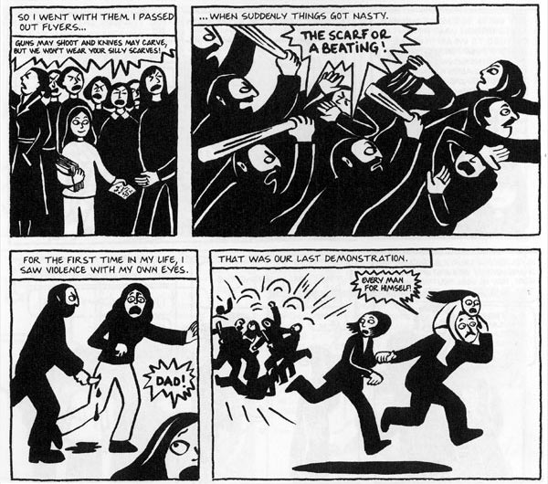 What is the time setting for Persepolis: The Story of a Childhood?