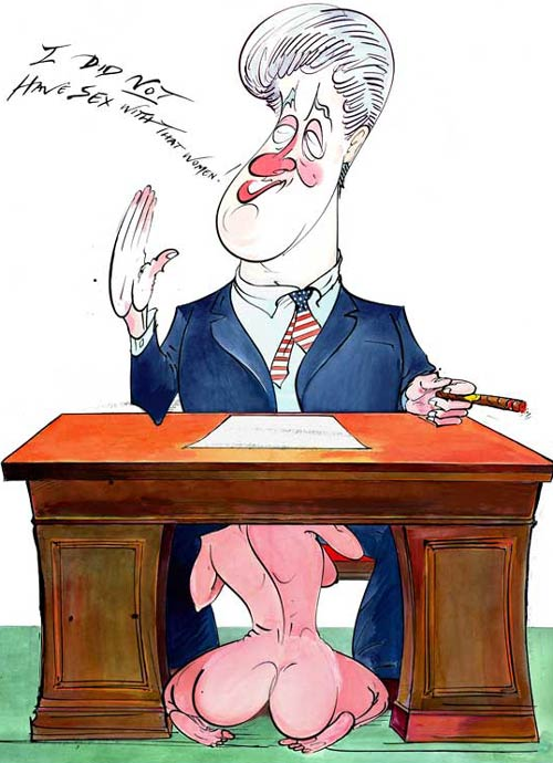 Bill Clinton by Gerald Scarfe