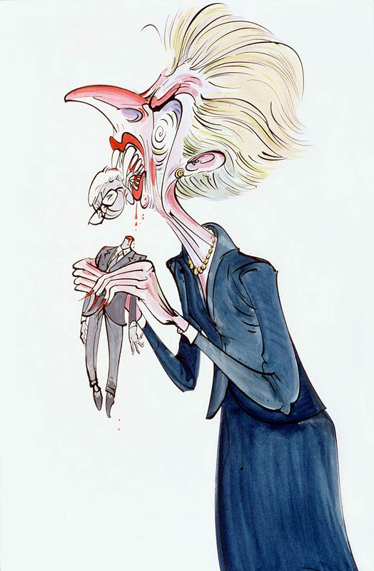 Margaret Thatcher by Gerald Scarfe