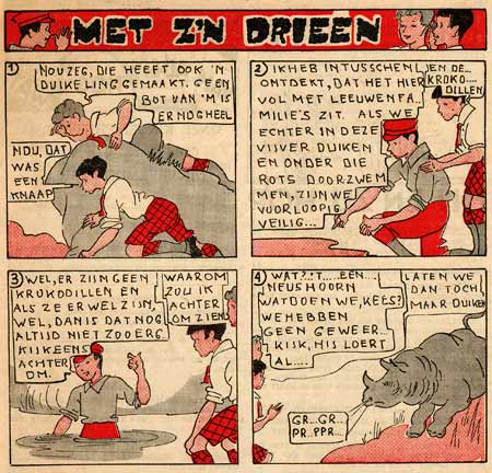 Met z'n Drieen, by Willy Schermele (Stuiversblad 10/3/1935)