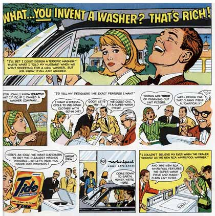 advertising comic by Tom Scheuer