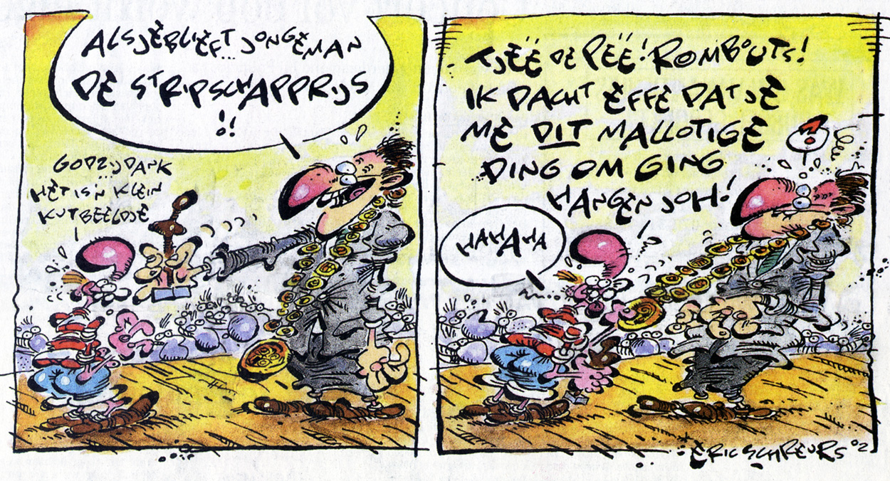 Joop Klepzeiker in Brabants Dagblad (dutch newspaper), 14 September 2002, by Eric Schreurs