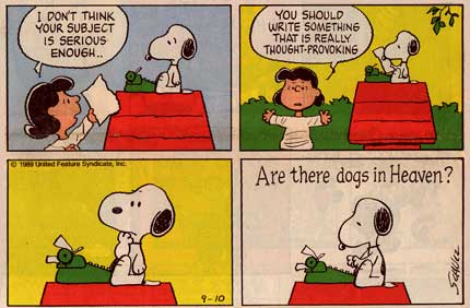 Snoopy, by Charles Schulz