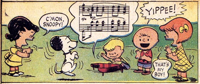 Early Peanuts, by Charles Schulz, 1952