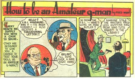 comic art by Fred Schwab (1940)