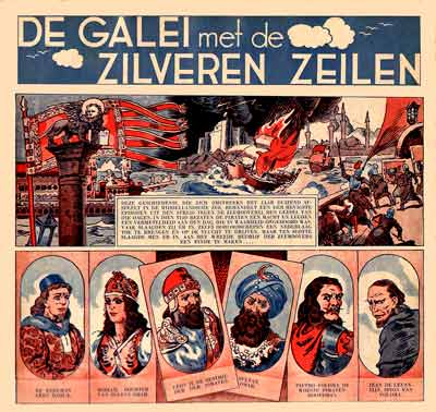 De Galei met de Zilveren Zeilen (The Galley with the Silver Sails), comic art by Giovanni Scolari