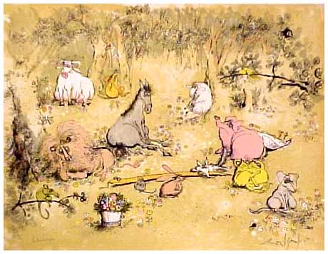 The Peaceable Kingdom. by Ronald Searle