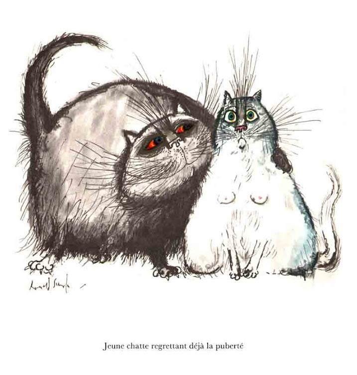 Cats by Ronald Searle