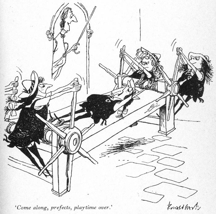 St. Trinian's Girl School, by Ronald Searle