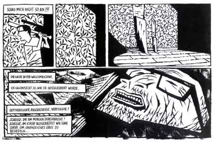 comic art by Santiago Sequeiros (Strapazin, 2004)