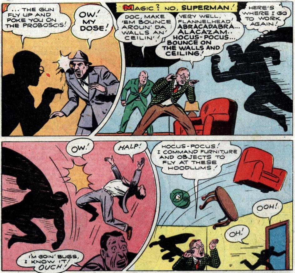 comic book furniture. Hocus And Pocus...Magicians By Accident! (Action Comics #83) Comic Book Furniture O