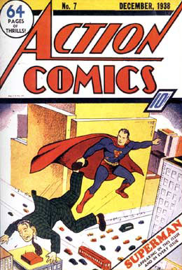 Action Comics Cover (1938), by Joe Shuster