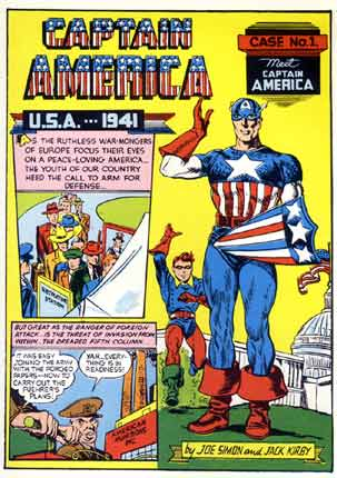 The first issue of Captain America, by Joe Simon