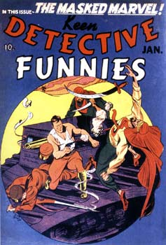 Keen Detective Funnies Cover, by Joe Simon (1940)