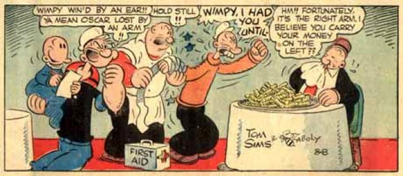Popeye, by Bill Zaboly and Tom Sims 1948