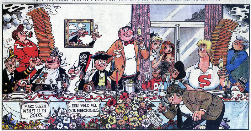 Marc Sleen 'Nero' comic in De Standaard, 31 Dec. 2002