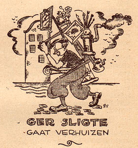illustration from De Wiekslag, by Ger Sligte (1938)