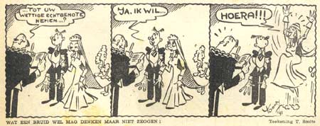 Strip in De Humorist, by T. Smits 1941