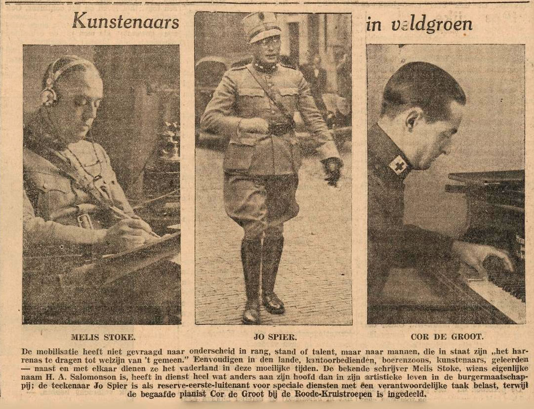 Newspaper clipping on the Dutch mobilization in 1939