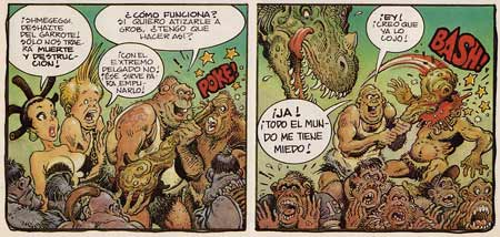 Shmegeggi of the Cavemen, by William Stout (Heavy Metal, with Kurtzman)