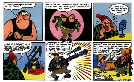 The first 'Combat Colin' strip. by Lew Stringer