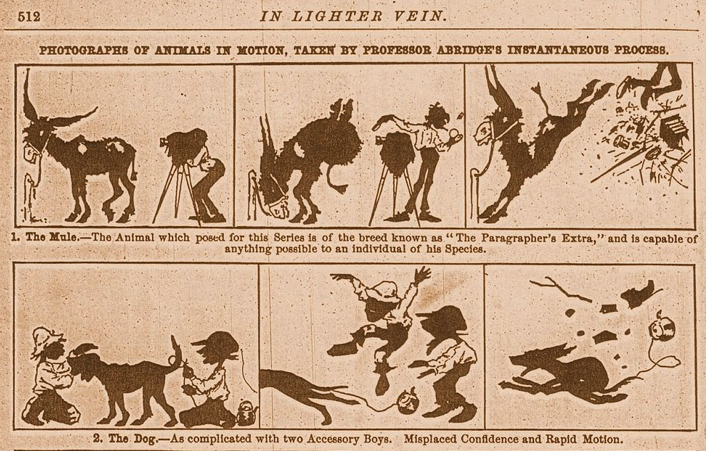 comic for Our Continent in 1883