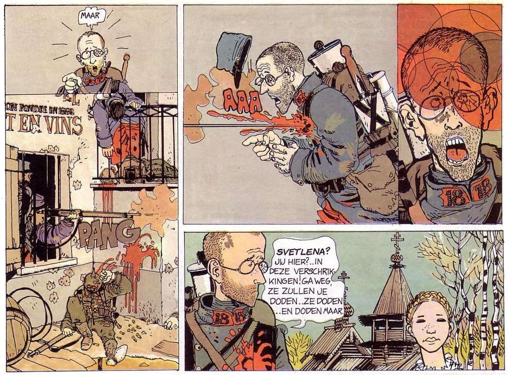 comic art by Jacques Tardi