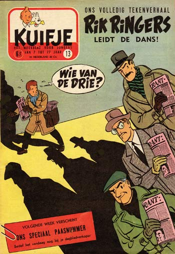 Rik Ringers cover for Kuifje, the dutch version of Tintin, by Tibet (Gilbert Gascard)