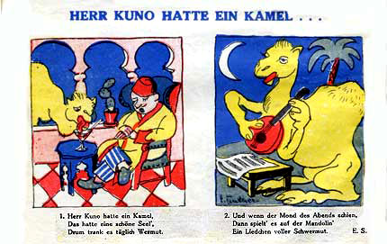 comic from Der Schmetterling by Erwin Tintner