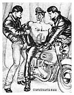 Bikers, by Tom of Finland