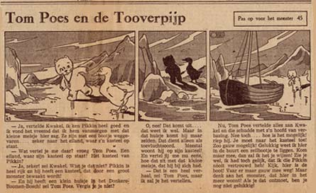 Tom Poes, by Marten Toonder (June 1941)