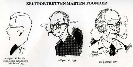 Self-portraits by Marten Toonder