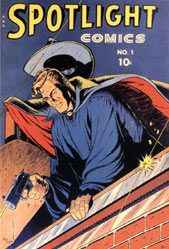 Spotlight comics cover, by George Tuska (1944)