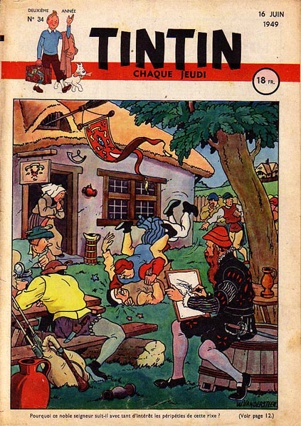 Tintin cover, by Willy Vandersteen