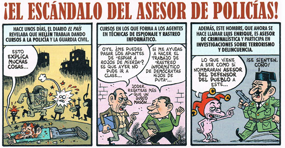 Comic from El Jueves by Bernardo Vergara