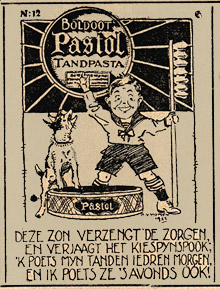advertisement for Pasol toothpaste by Bernard van Vlymen