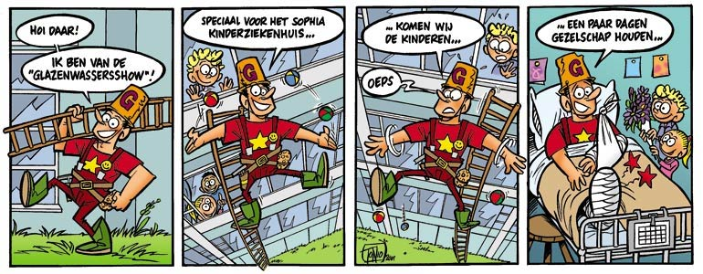 comic for Sophia Kinderziekenhuis by Tonio van Vugt