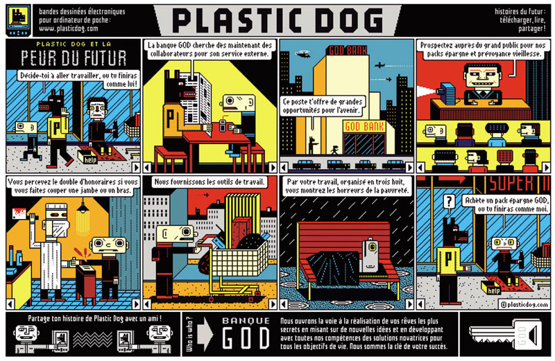 Plastic Dog by Henning Wagenbreth