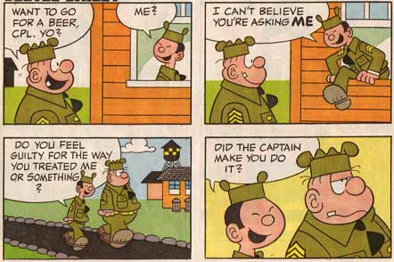 Beetle Bailey strip, by Morton Walker