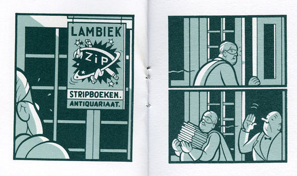 Detail of comic book Chris Ware created for/about Lambiek
