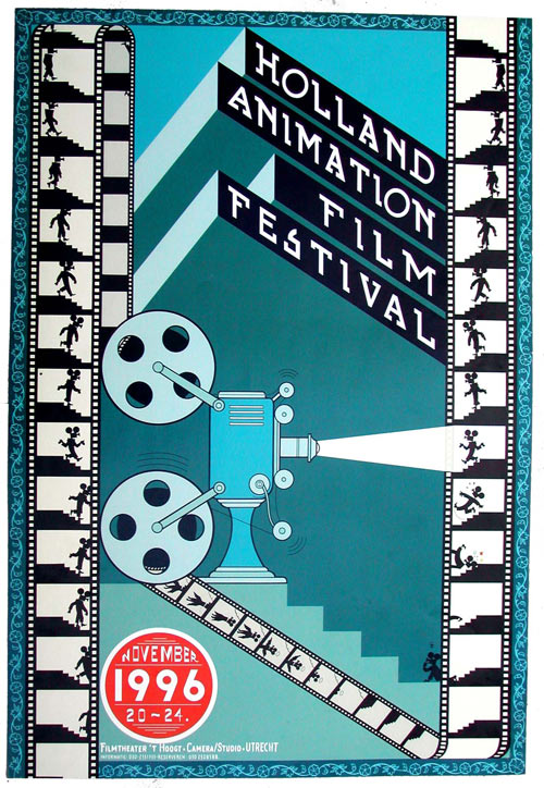 Chris Ware poster for the 1996 Holland Animation Film Festival